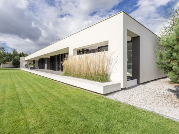 Modern geometric villa